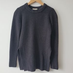 Aritzia Wilfred Charcoal Grey Wool sweater
